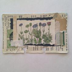 tinybeardk (Tina Jensen) on Instagram Kunstjournal Inspiration, Art Journal Inspiration, Paper Collage Art, Paper Art, Art Journal Pages, Junk Journal, Tea Bag Art, Glue Book, Mixed Media Journal
