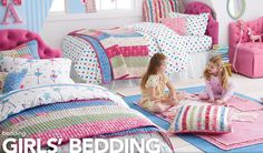 for the girls' room? I especially love the ruffley pillows.