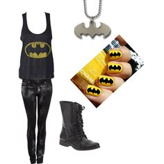 Batman Outfit, created by ninjakd on Polyvore