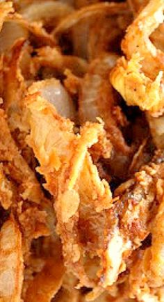 Buttermilk Onion Strings - recipe from Bobby Flay's Burger's Fries & Shakes ❊
