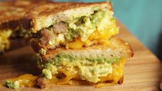 This Sausage-Avocado Breakfast Grilled Cheese Slays BECs — Delish Brunch Recipes, Breakfast Recipes, Avocado Breakfast, Breakfast Sandwiches, Breakfast Ideas, Yummy Recipes, Cake Recipes, Dinner Recipes, Grilled Cheese Avocado