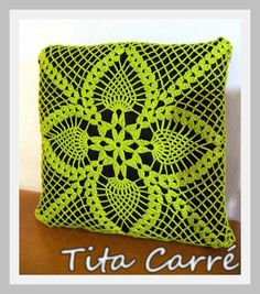 Tita Carré  Agulha e Tricot : Almofada Pineapple