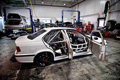 Shop Built BMW E36 M3 Sedan M3/4/5 by little speed shop, via Flickr