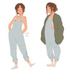 "- Pauline ✨✨ ""I'm all for farmer girl aesthetic rn"" Illustration Manga, Character Illustration, Cartoon Kunst, Cartoon Art, Cartoon Faces, Cartoon Drawings, Pretty Art, Cute Art, Girl Sketch"
