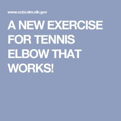 A NEW EXERCISE FOR TENNIS ELBOW THAT WORKS! Forearm Muscles, Calf Muscles, Tennis Elbow Exercises, Eccentric Exercise, Sports Physical Therapy, Extensor Muscles, Referred Pain, Sports Medicine