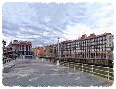 Txema Parra nos ha enviado esta bonita fotografía. Una tarde de domingo en Bilbao.