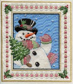 snowman needlepoint from Fleur de Paris/Sandra Gilmore needlepoint