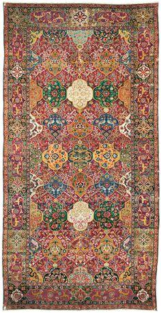 Persian Isfahan rug, the Clam Gallas Safavid carpet, late 16th century, 540 x 273 cm, Applied Arts Museum of Vienna (MAK)