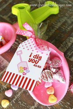 Valentines Labels   Printable Labels - Valentines Day I Dig You Favor Tags - Fresh Chick ...