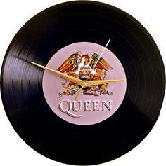 Queen Vinyl Clock Handmade Wall Clock Wall by VinylClockFactory
