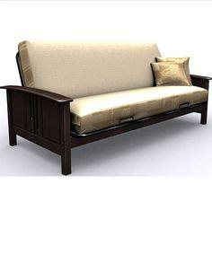 dark wood futon