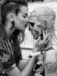 Rick Genest photographed for his Zombie Boy article in the fashion magazine Body Art Tattoos, I Tattoo, Cool Tattoos, Amazing Tattoos, Buddha Tattoos, Female Tattoos, Tattoo Life, Rick Genest, Tumblr Bff