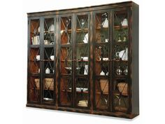 Hooker Furniture Sanctuary Two-Door Thin Display Cabinet - Ebony 3005-50001