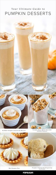 There's much to love about Fall. But perhaps most exciting of all is the seasonal imperative to embrace everything pumpkin.  These recipes will have you covered with ample inspiration on the dessert front.