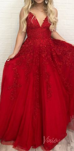 Simple junior prom dress, spaghetti strap v neck red long prom dress under Prom Dresses Under 200, Prom Dresses With Pockets, Junior Prom Dresses, Straps Prom Dresses, Cute Prom Dresses, Short Bridesmaid Dresses, Dress Pockets, Simple Formal Dresses, Satin Formal Dress