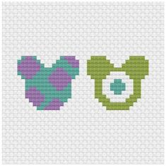 Brilliant Cross Stitch Embroidery Tips Ideas. Mesmerizing Cross Stitch Embroidery Tips Ideas. Perler Bead Designs, Easy Perler Bead Patterns, Perler Bead Templates, Diy Perler Beads, Perler Bead Art, Disney Hama Beads Pattern, Disney Cross Stitch Patterns, Cross Stitch Designs, Monsters Inc