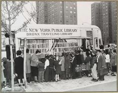 Traveling library - we had a book-mobile when I was young - and also at Hickam AFB in the early 90s.