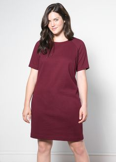 Cotton-blend shift dress