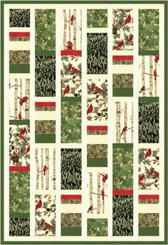 Quilt Inspiration: Free pattern day: Woodsy Winter quilt