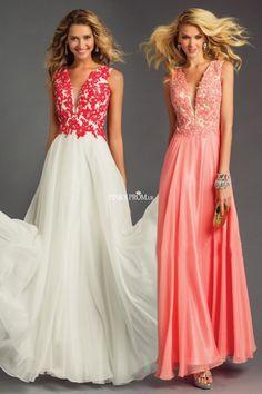 A line embroidery straps deep V neck sleeveless floor length chiffon prom dress - pinkyprom.uk