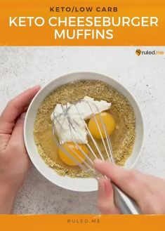 These keto cheeseburger muffins are sure to be a hit when you have company over or kicking back and watching the game! #footballsnacks #cheeseburgermuffins #cheeseburger #cheeseburgermuffins #ketosnacks Vegan Dinner Recipes, Best Dessert Recipes, Fun Desserts, Low Carb Recipes, Real Food Recipes, Healthy Breakfast For Weight Loss, Football Snacks, Health Dinner, Eat Fat