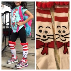 Seuss, The Cat in the Hat Crazy sock day, Dr. Seuss, The Cat in the Hat Wacky Socks, Silly Socks, Crazy Socks, Cute Socks, Dr Seuss Socks, Dr Seuss Hat, Dr Seuss Week, Dr. Seuss, Crazy Hat Day