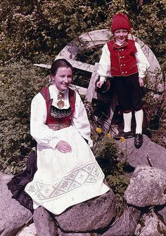 National Costumes from Hardanger, Norway