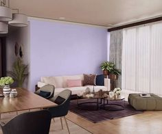 purples-pinks-colour-shade-asian-paints-7152 Wall Colour Texture, Wall Texture Design, Home Paint Colour, Room Paint Colors, Purple Wall Paint, Purple Walls, Modern Interior, Home Interior Design, Asian Paints Colours