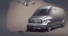 The futuristic design of the Vision Van provides a foretaste of future generations of vans.