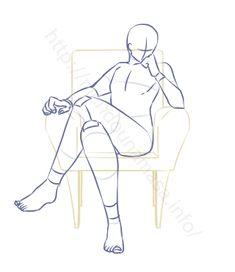 Art reference men _ art reference poses, art reference c. Drawing Body Poses, Body Reference Drawing, Drawing Reference Poses, Sitting Pose Reference, Drawing Tips, Body Drawing Tutorial, Drawing Expressions, Poses References, Art Drawings Sketches Simple
