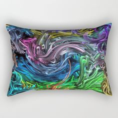 Magic Colors B Rectangular Pillow by mehrfarbeimleben Tie Dye, Magic, Pillows, Abstract, Colors, Stuff To Buy, Products, Cushion, Tye Dye