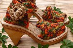 Ganchillo y dos Agujas: sandalias en crochet