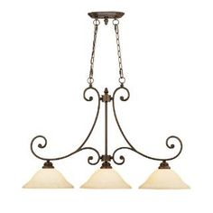Check out the Millennium Lighting 1233-RBZ Oxford 3 Light Island in Rubbed Bronze priced at $179.90 at Homeclick.com.