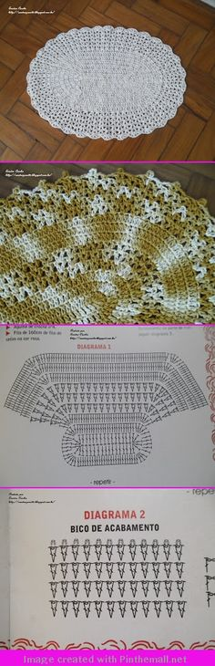 Crochet rug - two versions of one pattern                                                                                                                                                                                 Mais