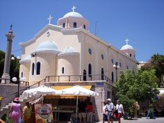 Aghia Paraskevi in Kos Town, on the island of Kos Dodecanese Greece Kos, Greece Islands, Episcopal Church, Acropolis, Roman Catholic, Ancient Greece, Greece Travel, Cathedrals, Study Abroad