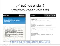 Drupal mobile solution