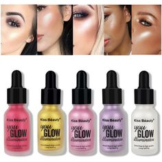 KISS BEAUTY Makeup Liquid Highlighter Highlighters Cream Concealer... ($6.99) ❤ liked on Polyvore featuring beauty products and makeup