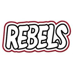 Rebels with a Shadow Embroidery Machine Applique Design by kayelee, $5.00