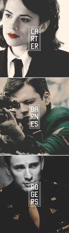 Carter / Barnes / Rogers ~The First Avenger