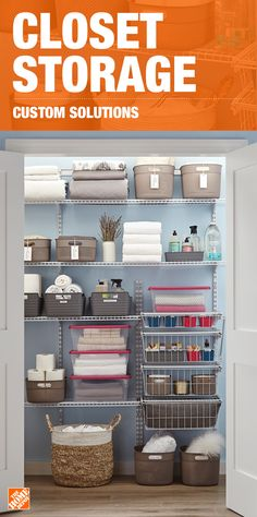 It's time to get organized once and for all, and keep the clutter from coming back. While closet storage can seem complicated, you can easily get organized with a wide variety of storage solutions that will simplify your life and create an efficient area. Click to shop solutions that will fit your space and your budget.
