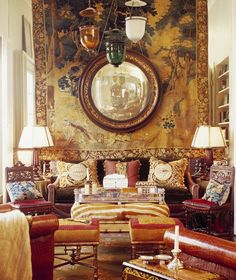 Tapestries bring old world charm to your interiors. Design by Martyn Lawrence-Bullard.