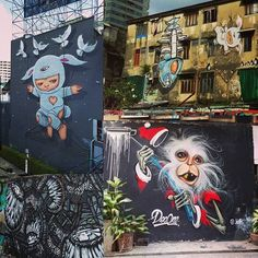 Santa Claus graffiti in Bangkok