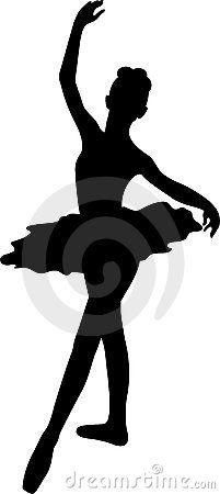Ballerina Silhouette by Ganna Smushko, via Dreamstime