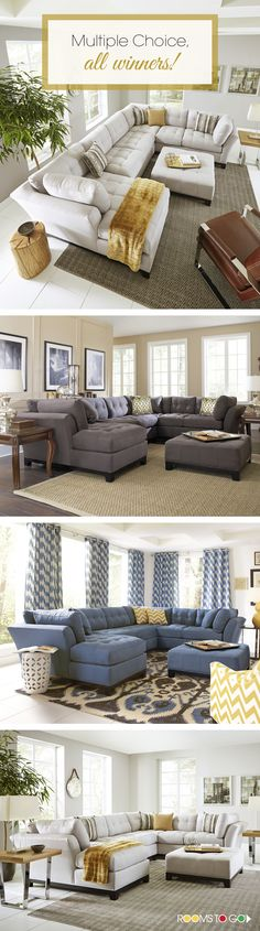 Bring versatile, stylish seating into your living room choosing from a variety of colors and accessories allowing you to get exactly what you want. It's your home; make it your own at Rooms To Go.