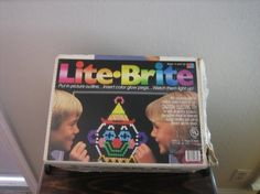 Vintage 1980's Lite Brite Toy with Pegs  My brother got a peg stuck up his nose!