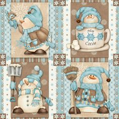 I love Snow by Henry Glass and Shelly Comiskey, would make cute polymer clay ornaments Christmas Pictures, Christmas Snowman, Christmas Projects, Winter Christmas, Holiday Crafts, Christmas Ornaments, Clay Ornaments, Frosty The Snowmen, Cute Snowman
