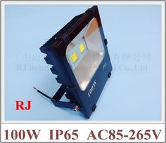 295.00$  Buy now - http://aligk5.worldwells.pw/go.php?t=32678195488 - new radiator LED flood light floodlight LED spot lamp 100W (2*50W) COB AC85-265V 10000lm IP65 CE Toughened glass aluminum