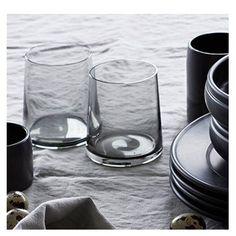 Trinkglas Tumbler, Grey Graues Trinkglas in konischer Form
