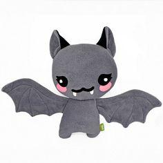 Chauve souris peluche kawaii peluche coussin coussin fait à la main vampire halloween mignon effrayant