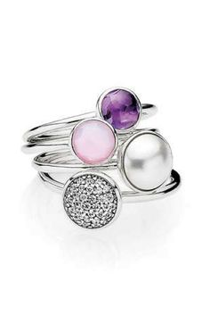 These PANDORA rings are inspired by glistening water droplets. #PANDORATexas #PANDORArings #PANDORAjewelry